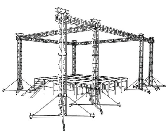 truss, estructuras e iluminación