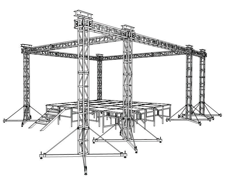 Iluminación, fx, truss y estructuras